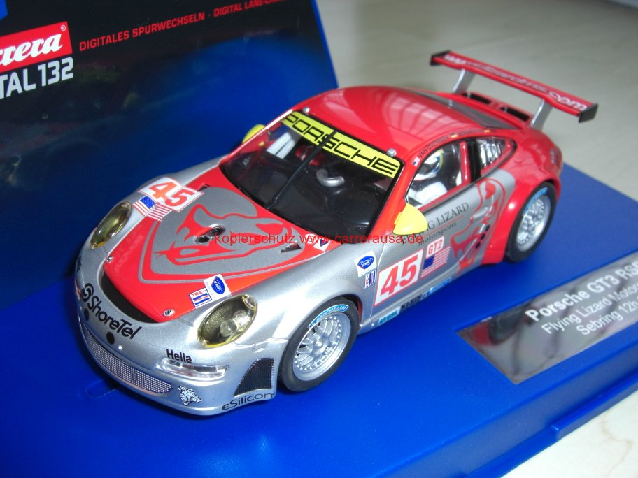 carrera digital 132 30410 porsche 911 gt3 rsr team flying. Black Bedroom Furniture Sets. Home Design Ideas